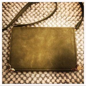 Olive Green Aleda Wallet Clutch NWOT
